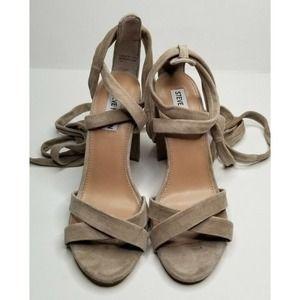 Steve Madden Beige Leather High Heels Size 8.5